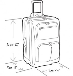 diensions valise cabine